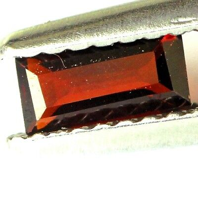 #0.35 cts. 5.9 x 2.9 mm. UNHEATED NATURAL RED ALMANDINE GARNET RECTANGLE AFRICA