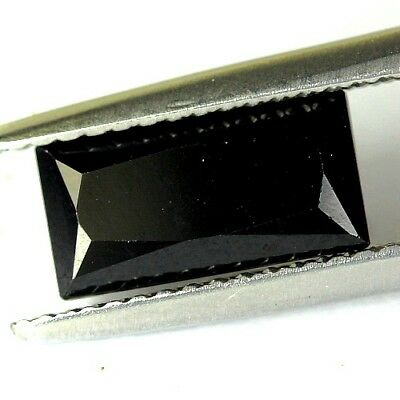 #2.04 cts. 10.2 x 5.2 mm.UNHEATED NATURAL BLACK ONYX RECTANGLE INDIA