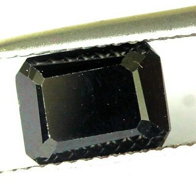 #2.24 cts. 8.1 x 6.2 mm.UNHEATED NATURAL BLACK ONYX OCTAGON INDIA