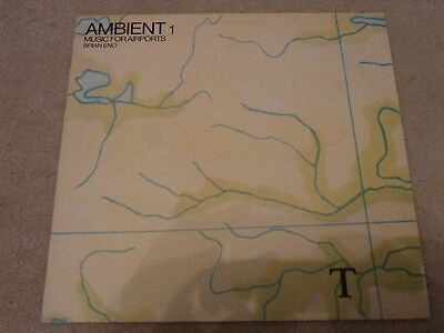 BRIAN ENO - AMBIENT 1 Music For Airports - Rare 1st LP Mispress - EGED17 - EX