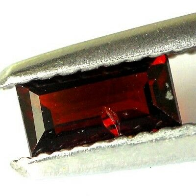 #0.45 cts. 6 x 3.1 mm. UNHEATED NATURAL RED ALMANDINE GARNET RECTANGLE AFRICA