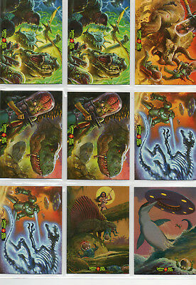 Mars Attacks! Occupation - Lot Of 9 Dinosaurs vs Mars Attacks Chase Cards NM