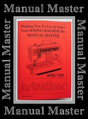 JONES BROTHER VX890 Sewing Machine Instructions Manual Booklet