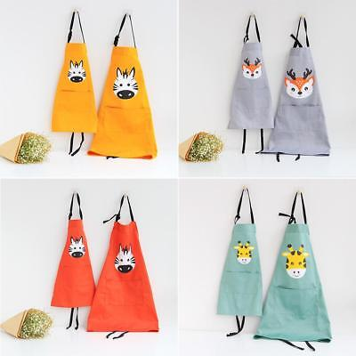 Adult  Childrens Cartoon Kitchen Cooking Bib Apron Baking Cute Animal Apron