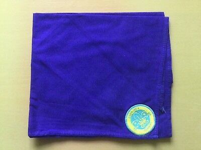 UK Scouts Deep Sea Scouts neckerchief scarf with badge attached