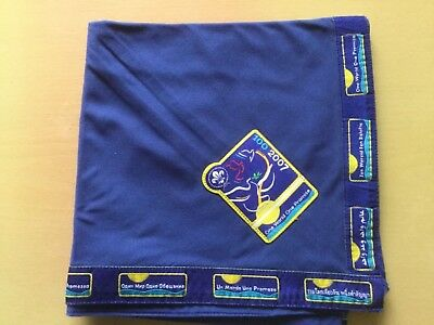 UK Scouts 2007 100 2007 One World One Promise neckerchief scarf