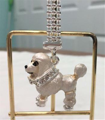 Miniature Poodle Dog  Key Chain Austrian Crystals NEW by Lauren Spencer