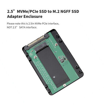 2.5 inch Interface NVMe/PCI-E SSD To M.2 NGFF PCIe X4 SSD Adapter Enclosure