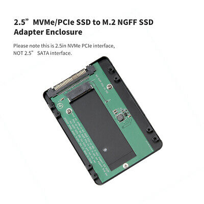 2.5 inch SATA Interface NVMe/PCI-E SSD To M.2 NGFF PCIe X4 SSD Adapter Enclosure