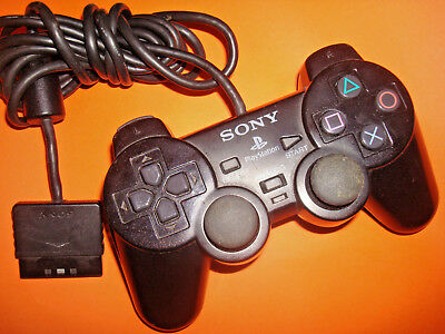 Sony Playstation Ps2 Black Dualshock 2 Controller  Scph-10010