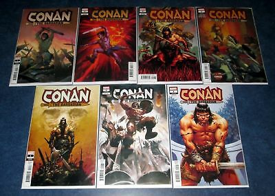 CONAN THE BARBARIAN #1 both 1:25 ACUNA ZAFFINO 1:10 MARVEL 2019 1st print set 7