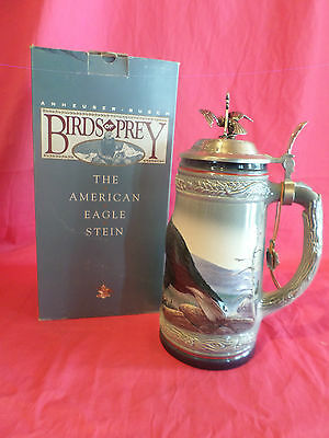 1991 Anheuser Busch Birds Of Prey Stein The American Eagle Nib Made In Germany