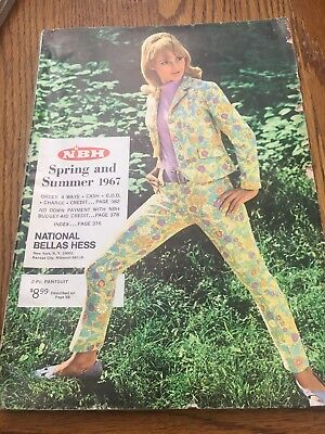 National Bellas Hess Vintage Fashion Catalog Spring Summer 1967 Retro Cool