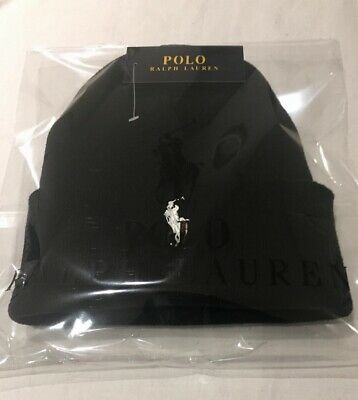 Adults One Size Ralph Lauren Polo beanie hats (black  & white )70%off!!