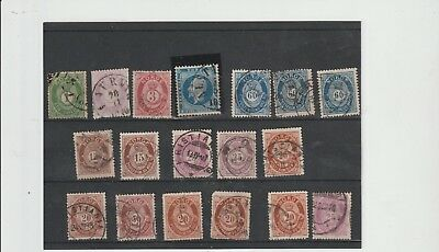 Norway, nineteenth century only, interesting range, a few mixed condition (Q14)