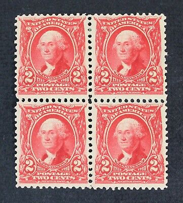 CKStamps: US Stamps Collection Scott#301 2c Block Mint 1NH 3LH OG