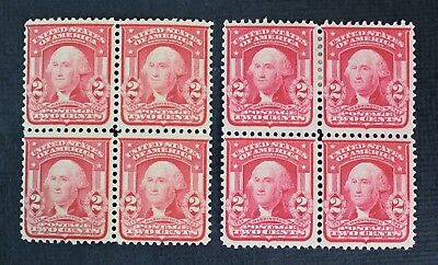 CKStamps: US Stamps Collection Scott#319c 319Fi 2c Block Mint H OG