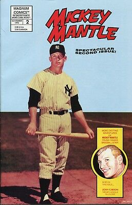 Mickey Mantle 1991 Magnum Comics Sports Comic Book Second Issue Baseball Yankees