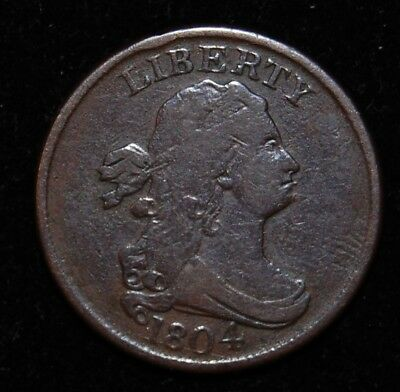 1804 Draped Bust Half Cent (Spiked Chin)
