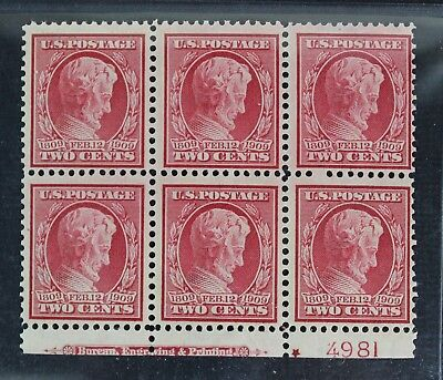 CKStamps: US Stamps Collection Scott#367 2c Block Mint NH OG Lightly Gum Crease
