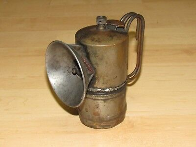 ANTIQUE CARBIDE iTp MINERS CARBIDE LAMP  TROUBLE PROOF PAT AUG 8 1916 ITP .