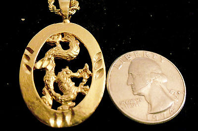 gold plated MYTH LEGEND CELT DRUID dragon pendant charm hip hop necklace JEWELRY