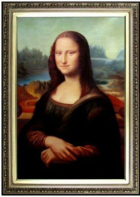 Framed Da Vinci Mona Lisa Repro, Quality Hand Painted Oil Painting, 24x36in