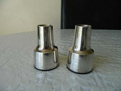2 X Vintage silver plated candle holders by COHR from Denmark