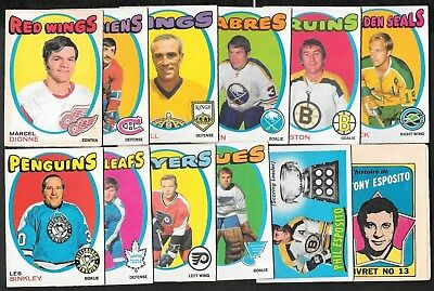 1971-72 Opc O Pee Chee Nhl Hockey Card Error Variation 133-264 Booklet See List