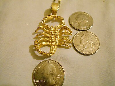 bling gold plated scorpion zodiac myth legend egypt goth pendant charm necklace