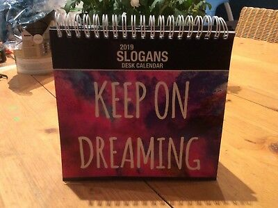 2019 Slogans Desk Calendar Positive Quotes Inspirational Motivational new