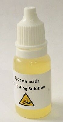 14-24ct Gold Acid Testing Solution Free Uk P&P Instructions Included In Test Kit