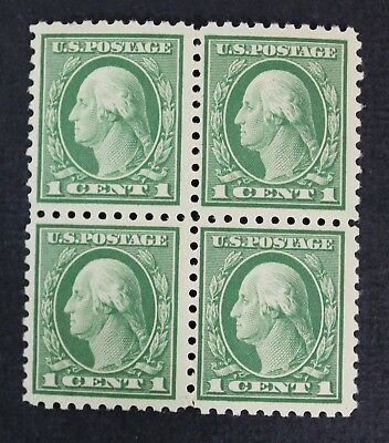 CKStamps: US Stamps Collection Scott#424 1c Block Mint NH OG