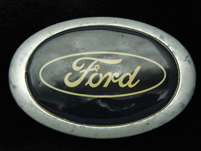 QL19125 VINTAGE 1970s **FORD** MOTOR COMPANY ADVERTISEMENT BELT BUCKLE