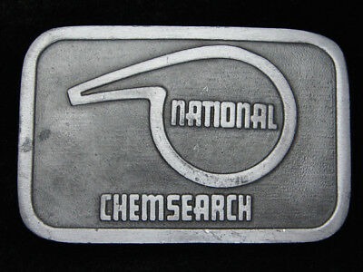 RC09129 VINTAGE 1970s **NATIONAL CHEMSEARCH** ADVERTISEMENT BELT BUCKLE