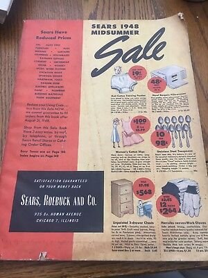 Vintage 1948 Sears Roebuck Midsummer Sale Catalog