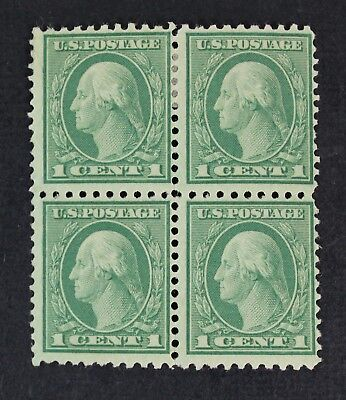 CKStamps: US Stamps Collection Scott#542 1c Block Mint 2NH 2H OG