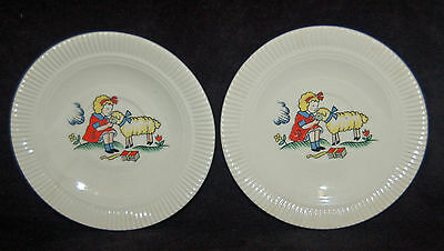 Wonderful Vintage Children's Plates-Salem China - Mary Had A Little Lamb - Cute!