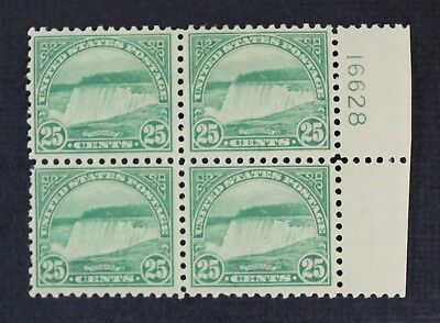 CKStamps: US Stamps Collection Scott#568 25c Block Mint 2NH 2H OG