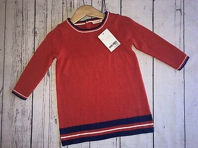 Red Baby Girls 9-12 Months Knitted Jumper Dress Next Baby & Toddler Clothing
