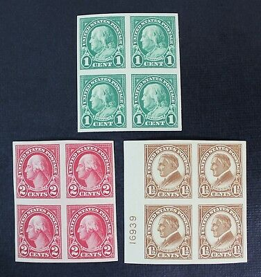 CKStamps: US Stamps Collection Scott#575 Block Mint NH OG, #576 #577 H OG Crease