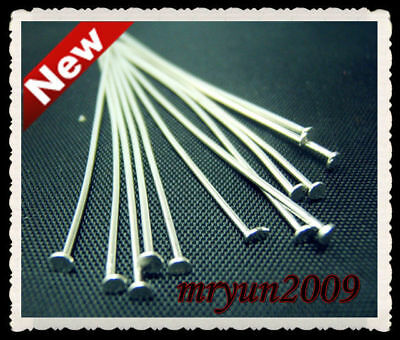 HEAD SILVER PINS Jewelry Needles 100PCS Repair FLAT PLATED 50MM PINS Design Free