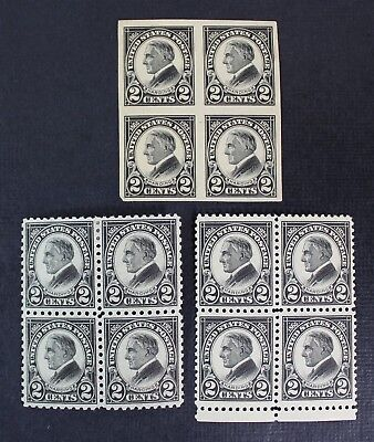 CKStamps: US Stamps Collection Scott#610 Block Mint NH OG, #611 #612 Mint LH OG