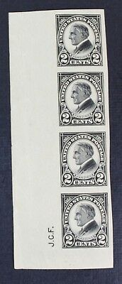 CKStamps: US Stamps Collection Scott#611 2c Strip Mint NH OG Crease