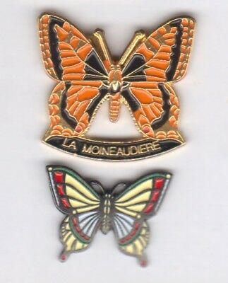 Lot de 2 pin's Papillons