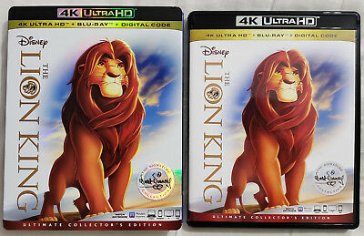 THE LION KING (1994) 4K Ultra HD Blu-ray Ultimate Collector's Edition 2-Disc Set