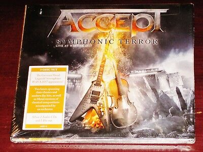 Accept: Symphonic Terror, Live At Wacken 2017 2 CD + Blu Ray 3 Disc Set 2018 NEW