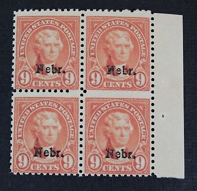 CKStamps: US Stamps Collection Scott#678 9c Block Mint NH OG