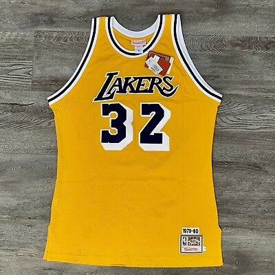 f10d9c31e Mitchell   Ness MAGIC JOHNSON LOS ANGELES LAKERS 1980 Jersey in size 46