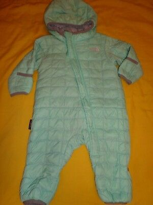 The North Face Baby Unisex Snowsuit Thermoball 3-6 Months Light Green Color